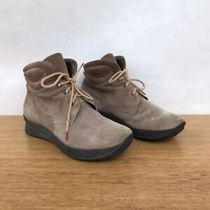 ⭐️ Womens Think Think! Suede Leather Lace Up Ankle Desert Boots Shoes Size 37 6