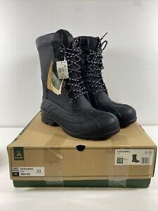 Kamik Nationpro Mens Boots Black 13 New In Box $80 MSRP