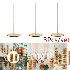 3Pcs Donut Doughnut Stacker Wooden Birthday Party Wedding Favour Table Stands