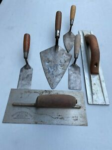 VITG, USED CONCRETE CEMENT TOOL TROWELL & MORE ALL HAVE MARKING LOT OF ** 6 **