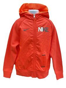 New NIKE Vintage Unisex Hoodie Jacket Orange 140-152 cm Age 10-12 Years