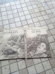 lot Livre ancien LE FEU henri barbusse verdun ww1 14/18 wk 1 poilu
