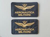 PATCH AQUILA AERONAUTICA MILITARE PZ 2 RICAMATE TERMOADESIVE CM 9,5X5 -REPLICA