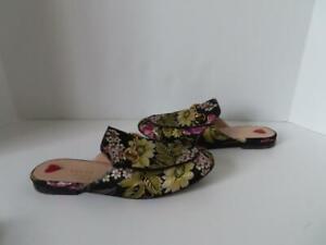 Gucci Black/Multi Floral Print Princetown Loafers/Shoes EU 37.5/US 7.5 $940