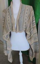 Chaps Denim Ralph Lauren Striped Open Front Wrap Drape Knit Cardigan Jacket Sz3X