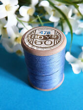 705B / Hermosa Bobina Antiguo Hilo DMC Algodón Alsa N º 60 Azul Brillante º 478