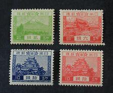 Ckstamps: Japan Stamps Collection Scott#194-197 Mint Nh Og