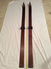 "Antique Vintage Lund Snow Skis- Maple 70"" Long #8135 Beautiful Patina- Very Nice"