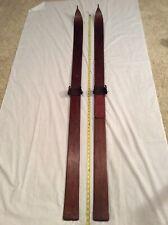 "Antique Vintage Lund Snow Skis- Maple 70"" Long #8135 Beautiful Patina- Very Nice"