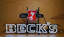 "Beck's Key Beer Neon Sign 17""x14"" Bar Pub Beer Light Lamp Gift"