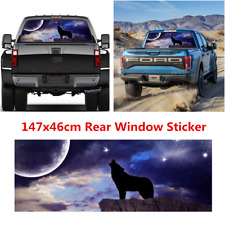 1Pcs Wolf Pattern Car Truck Rear Window Graphic Decal Tint Sticker Accessories
