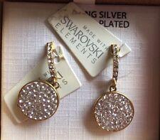 10 k Gold Over Sterling  Silver Earrings, Including Swarovski Elements