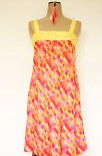 Miss Selfridge 100% SETA Pattern Strap Dress taglia 8
