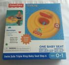 Brand New Fisher-Price Safe Swim Triple Ring ABC Baby Seat Pool Float Ages 0-1