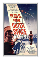 Vintage Sci-Fi Film / Movie Poster, Plan 9 from Outer Space 11x17 inches