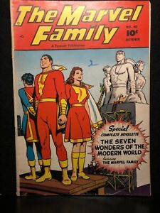 The Marvel Family No. 40 Vintage Comic Book