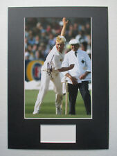 SHANE WARNE CRICKET AUSTRALIA LEGEND GENUINE SIGNED A3 MOUNTED PHOTO DISPLAY-COA