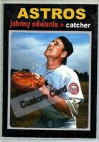 JOHNNY EDWARDS HOUSTON ASTROS 1971 STYLE CUSTOM MADE BASEBALL CARD BLANK BACK