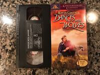 Dances With Wolves VHS! 1990 Western! Also See Little Big Man & Open Range