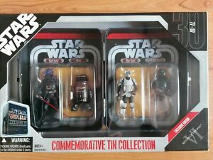 Star Wars ROTJ Commemorative Tin Collection Exclusive Edition 4x Figures