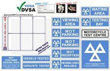 MOT SIGN | MOT SIGNS  | VOSA DVSA | MOT SIGN PACK | MOT MOTORCYCLE 13 SIGNS PACK