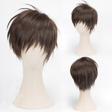 Cardcaptor Sakura Toya Kinomoto Short Straight Mixed Brown Cosplay Wig Unisex