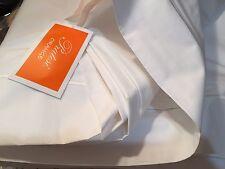 Pratesi Italy NWT (1) Queen Duvet Cover 100% Cotton Embroidery WHITE
