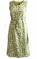 New White Stuff Mustard Green Sopero Summer Tunic Dress Size 8 - 18