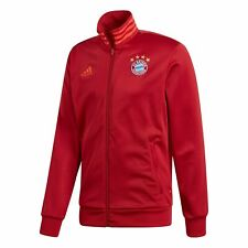 adidas Official Mens FC Bayern Munich 3 Stripe Football Track Top Red