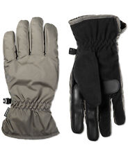 Isotoner Mens Touchscreen SmarTouch Fleece Palm Winter Gloves, Gray, Large - NEW