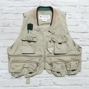 Vintage Columbia PFG Fishing Vest Size XL Performance Fishing Gear
