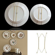 """W Type Hook 8 - 16""""Inch Wall Display Plate Dish Hanging Holder Spring Home Decor"""