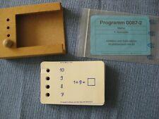 Lochkasten mit 40 Karten Grundschule 1. Klasse Mathematik, Add. u. Subtr. bis 20