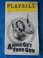 Annie Get Your Gun - Marquis Playbill w/Ticket - November 1999 - Peters