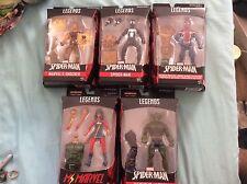 Marvel Legends Spider-Man Ms.Marvel Shocker Sandman Baf Lot