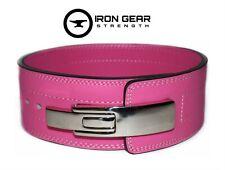 Iron Gear Strength Powerlifting10mm Lever Weightlifting Pink Belt (Medium)