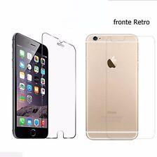 """PER IPHONE 7 PLUS 5.5"""" PELLICOLA VETRO TEMPERATO FRONTE / RETRO PROTETTIVA LCD"""