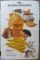 Herbie Goes Bananas Movie Poster,1 sheet,27x41,1980,Walt Disney ,Cloris Leachman