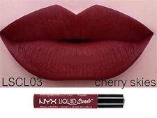 NYX Liquid Suede  CHERRY SKIES Cream Lipstick Waterproof Lip Gloss Makeup