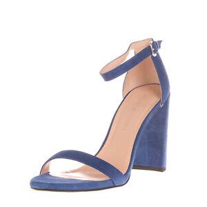 RRP €570 STUART WEITZMAN WALKWAY Leather Ankle Strap Sandals EU 40 UK 7 US 9.5