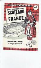 Teams F-K France Football International Fixture Programmes