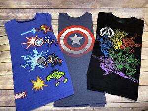 Marvel Avengers Captain America Lot of 3 TShirts Size 10/12