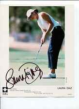 Laura Diaz Sexy LPGA Golf Solheim Cup Team Signed Autograph Photo