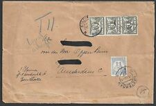 Netherlands 1937 Nvph Due 75 on cover Eindhoven-Amsterd