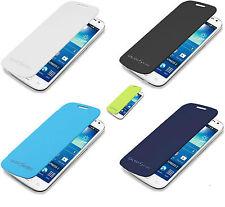 CUSTODIA FLIP COVER CASE ECOPELLE per SAMSUNG GALAXY S5 NEO G903  +PELLICOLA LCD