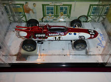 Carousel 1 #4764 1/18 1966 Indy 500 Aar Bardahl Eagle Only 24 Lloyd Ruby Signed