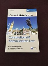 Cases & Materials on Constitutional & Administrative Law.