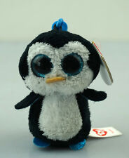 "3.2"" TY001 Beanie Boos Plush Stuffed Toys Waddles Penguin Key Chain New"