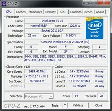 Intel Xeon e5 v3 14c/28t 2,3 - 2,6 GHz Socket 2011-3 120 W Puissance: 6950 6900