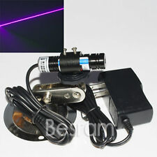 405nm 20mw Foucsable Blue Violet Laser Diode Line Module w/ AC adapter +mount